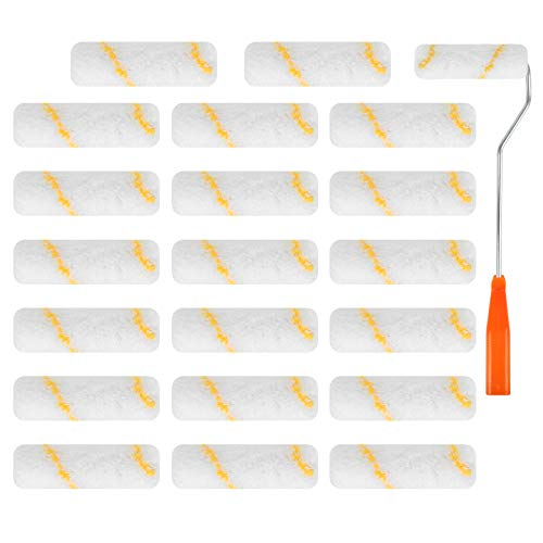 Farbwalzen,20Pcs Farbroller Pinsel,Wandwalze,Mini-Farbwalze,Klein Farbrollerbügel für Gebäudedekoration