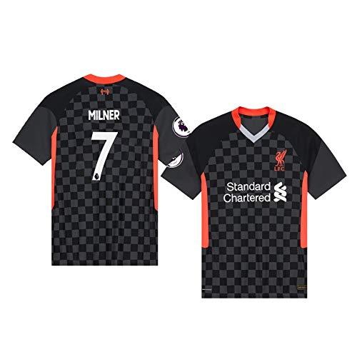 xfff132 James Milner Liverpool Schwarz,Maillot James Milner Trikot 2020/21 für Herren &...