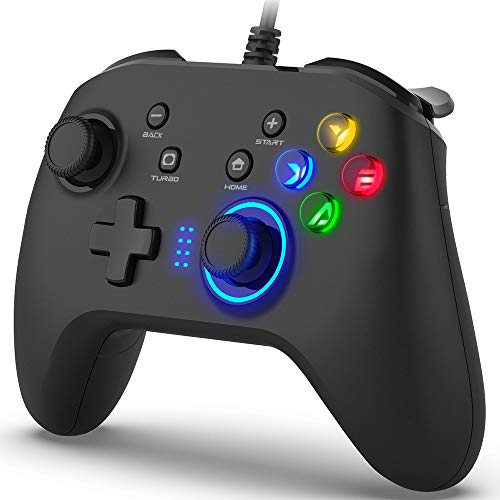 BIMONK Game Controller Wired, Gamepad mit Dual Vibration PC Laptop Controller für PS3, Switch, Windows...