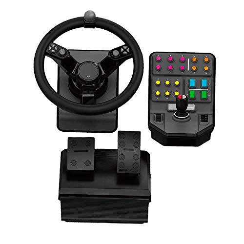 Logitech G Saitek Farm Sim Controller, Farming Simulator Bundle bestehend aus Lenkrad, Steuerkonsole, Gas- und...