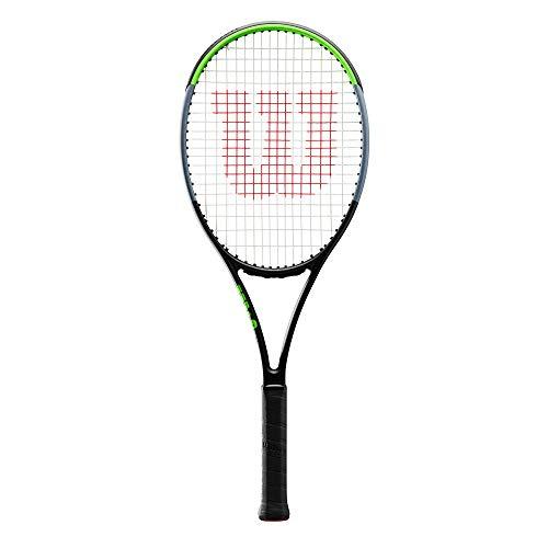 Wilson Tennisschläger, Blade 101L V7.0, Unisex, Erwachsene, Griffgröße: 4 3/8, Graphit, schwarz/grau/lime,...