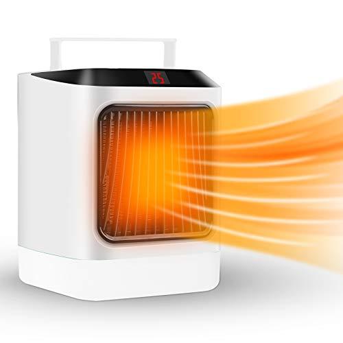 Heizlüfter Elektrische,Heizung Keramik Heizlüfter Energiesparend 600W/800W Timing Heizstrahler mit...