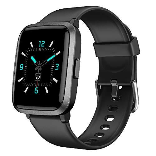 YAMAY Smartwatch,Fitness Armbanduhr mit Blutdruck Messgeräte,Pulsoximeter,Pulsuhren Fitness Uhr Wasserdicht...