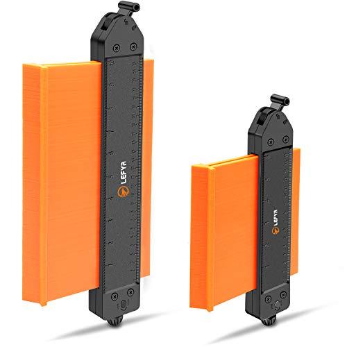 Konturenlehre mit Schloss,LEFYR 2 Stücke Erweitern Konturmessgerät 250mm und 130mm Kunststoff Kontur...
