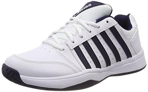K-Swiss Performance Herren Court Smash Tennisschuhe, Weiß (White/Navy 109-M), 44 EU