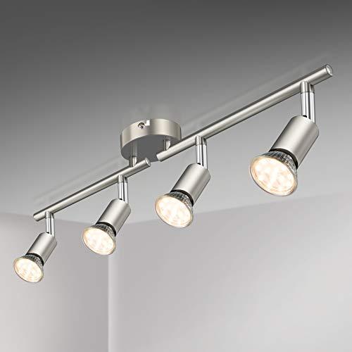 Defurhome LED Deckenleuchte Drehbar, 4 Flammig LED Strahler Deckenlampe Spot,Modern Deckenstrahler (Mattes...