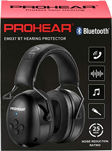 (Upgraded) PROHEAR 037 Bluetooth 5.0 Gehörshutz Kopfhörer mit Eingebautem Mikrofon und Lärmreduzierung für...
