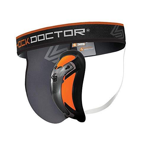 Shock Doctor Herren Suspensorium mit Ultra Carbon Flex Cup Tiefschutz, Grey, XL EU