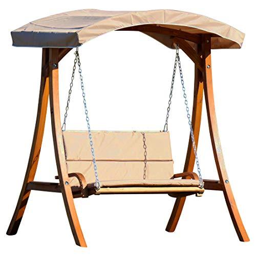 AS-S Design Hollywoodschaukel Gartenschaukel Hollywood Schaukel aus Holz Lärche (Braun)
