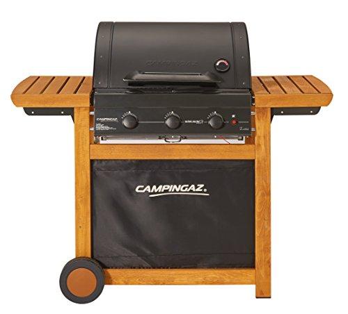 Campingaz Gasgrill Adelaide 3 Woody L, BBQ Grillwagen aus Holz mit 3 Gusseisen-Brennern, Deckel und...