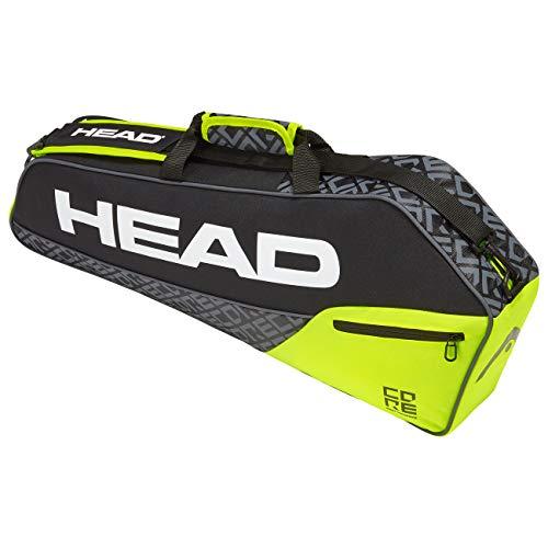 HEAD Unisex-Erwachsene Core 3R Pro Tennistasche, Black/neon Yellow, Einheitsgröße