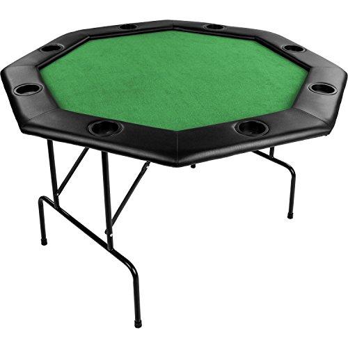"""Maxstore Faltbarer Pokertisch """"Flush"""" für bis zu 8 Spieler, achteckig, Maße 120x120 cm, MDF Platte,..."""