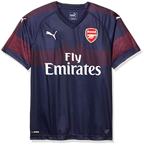PUMA Herren Arsenal FC Away Shirt Replica SS with EPL Sponsor Logo Trikot, Peacoat-High Risk Red, M