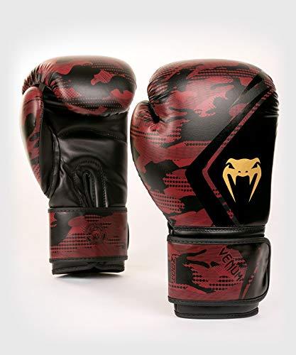 Venum Unisex Defender Contender 2.0 Boxhandschuhe, Schwarze/Rot, 14 oz