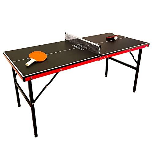 heinsa Premium Mini Tischtennisplatte Indoor - Tischtennisplatte klappbar mit Tischtennisschläger und...