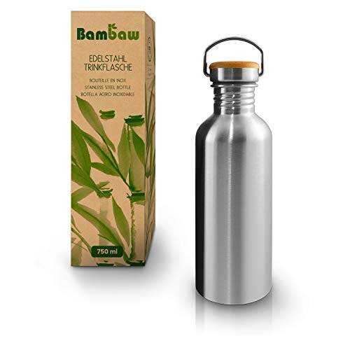 Bambaw Trinkflasche 500ml Edelstahl | Langlebige Wasserflasche 500 ml| Wiederverwendbare öko Wasserflasche |...