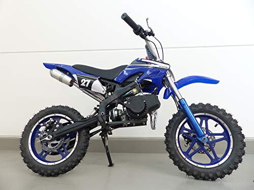 RV-Racing Pocketbike Dirtbike Pocket Cross Bike Kindermotorrad Crossbike Blau