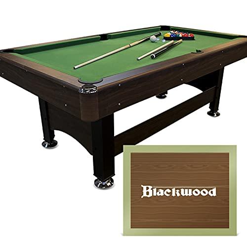 Blackwood Billardtisch Basic 6' - Pool/Billard-Tisch - Für Kinder & Erwachsene - Inkl. Queue-Set, Kugeln,...