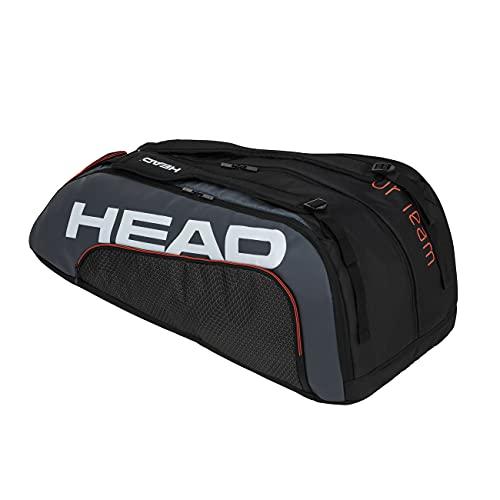 HEAD Unisex-Erwachsene Tour Team 12R Monstercombi Tennistasche, Black/Grey