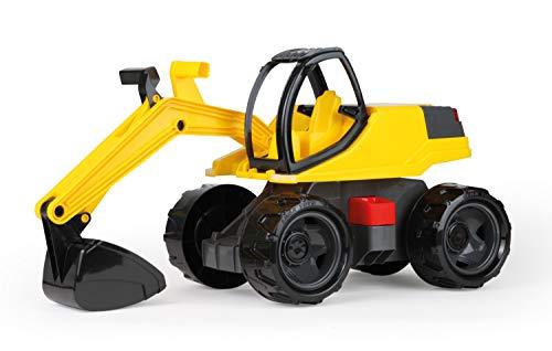 Lena 02141 - Starke Riesen Bagger, Giga Trucks Sandbagger ca. 80 cm groß, stabiler 360 Grad Schaufelbagger,...