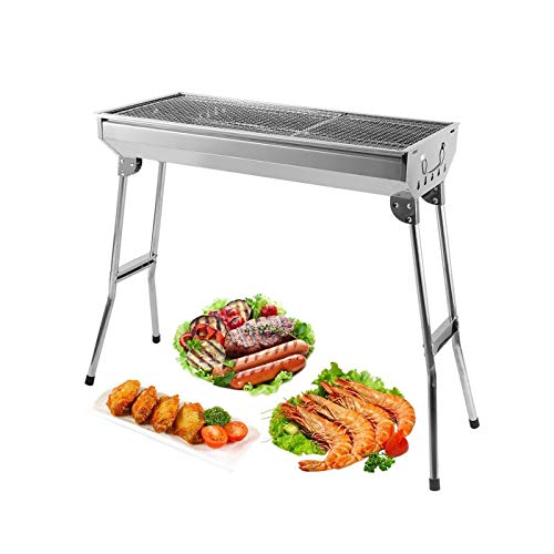 AGM Holzkohlegrill Camping Grill Holzkohle,Klappgrill Tragbarer Grill,Für Camping Garten Picknick Party,68x...