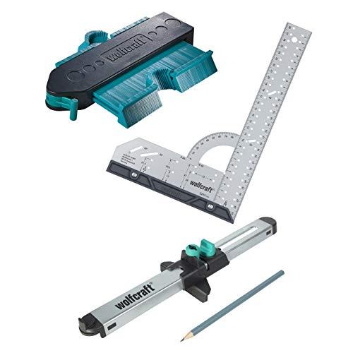 wolfcraft I Geling Set Laminat- und Designboden einpassen I 6976000 I Komplettset aus Universalwinkel,...