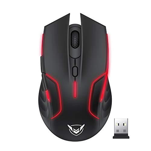 Holife Kabellose Gaming Maus 10000 DPI Sensor RGB Maus, 6 programmierbaren Tasten, 2.4G USB Wireless Gaming...