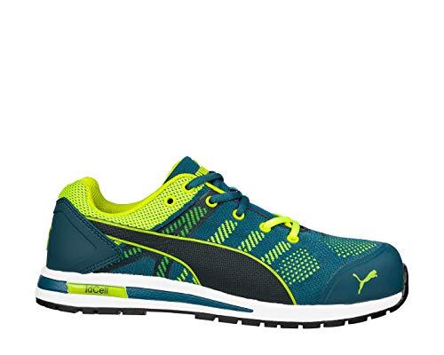 Puma Elevate Knit Green Low 643170 - S1P ESD Sicherheitsschuhe 43 blau/grün