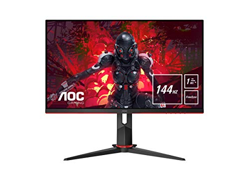 AOC Gaming 27G2U - 27 Zoll FHD Monitor, 144 Hz, 1ms, FreeSync Premium (1920x1080, HDMI, DisplayPort, USB Hub)...