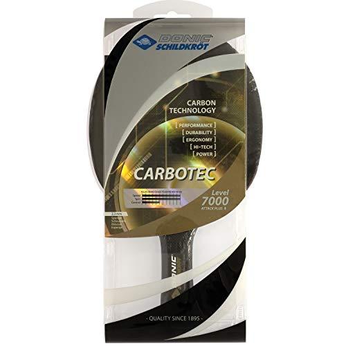 Donic-Schildkröt Tischtennisschläger CarboTec 7000, 100% Carbon, 2,3 mm Schwamm, Liga QRC - ITTF Belag,...