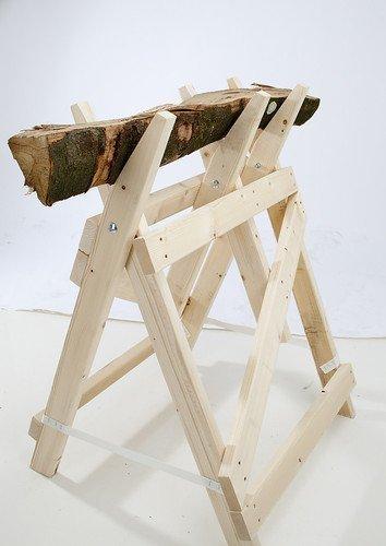 Profi-Sägebockbock - stabile Bauweise -Fichten / Tannen-Holz massiv - fertig montiert - naturbelassen /...