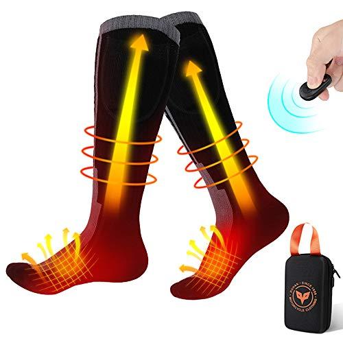 Beheizte Socken, 3.7V 2600mAh Wiederaufladbaren Batterien Socken mit Drahtloser Fernbedienung,...