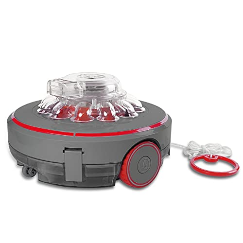 Mauk® Pool Bodenreinigung Robotersauger | Li-Ion Akku | 200 m² rund & kabellos