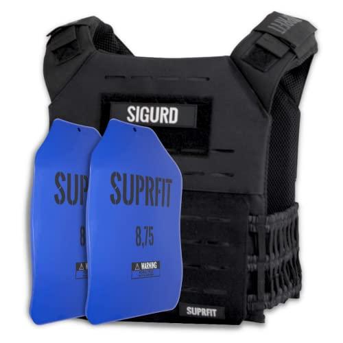 SUPRFIT Sigurd 3D Gewichtswesten für Männer & Frauen - erweiterbar bis 17kg, Trainingsweste mit 2X 4kg...