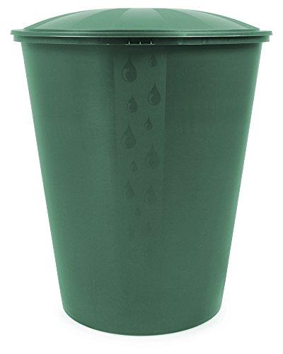 Ondis24 Wassertank Regenwassertonne Regenwasserfass Fass Aqua Regentonne mit Deckel Ecotank grün 310 Liter,...