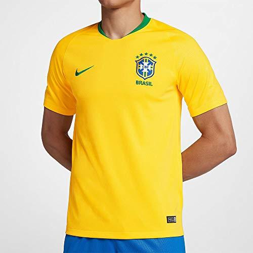 Nike Herren Brasil Cbf Stadium Home Trikot, gelb (midwest gold/lucky green), XL