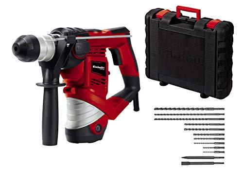 Einhell Bohrhammer TC-RH 900 Kit (900 W, 4100 min.-1 Schlagzahl, 3 J Schlagstärke, Hammerbohren, Bohren und...