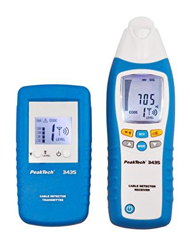 PeakTech 3435 – Leitungssuchgerät mit Sender & Empfänger für Kurzschlüsse, Sicherungen, metallische...