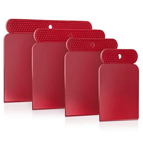 PETITONE Japanspachtel Kunststoff || 4-teiliges Premium Spachtel-Set | Leicht zu reinigender Spachtel |...