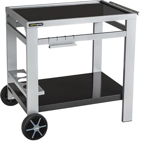 Cook'in Garden Media M Gartenwagen für Grill/Plancha/Arbeitsplatte – L 93,5 × B 67 × H 80,5 cm