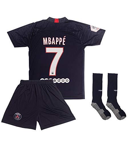 ATB PSG 2019/2020#7 Mbappe Heim Kinder Fußball Trikot und Shorts mit Socken Kinder und Jugend Größe