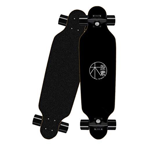 Deloito Longboard Straßen Skateboard 80cm Vierrädriges für Jungen Mädchen Skateboards Erwachsene Kinder...