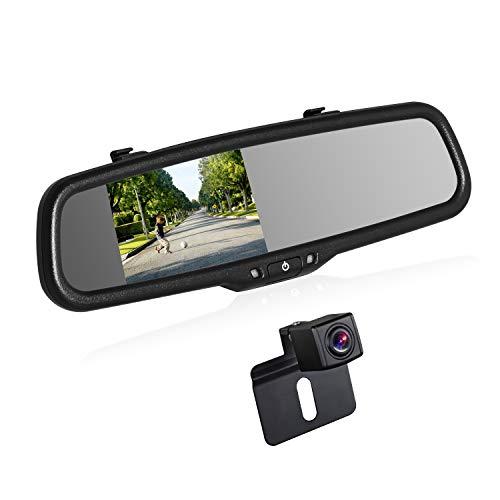 BOSCAM K2 Rückfahrkamera Set, Rückfahrkamera Drahtlos mit 14.4 cm/4.3' Zoll LCD Farbdisplay im Rückspiegel,...