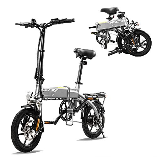 HITWAY Elektrofahrrad E Bike Pedelec Cityräder Klapprad Fahrrad aus Luftfahrtaluminium, 7,5Ah Batterie, 250 W...