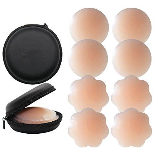 KQueenStar Nipple Cover - Silikon Nippelabdeckung Gel Brustwarzenabdeckung Selbstklebend & Wiederverwendbar...