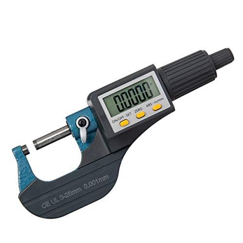Beslands Micrometer Digitale Bügelmessschraube 0-25mm/ 0.001mm Hohe Präzision Elektronische Digitale...