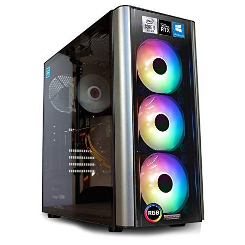 dcl24.de Gaming PC [12677] Intel i9-10900KF 10x3.7 GHz - Z490, 500GB M.2 SSD & 2TB HDD, 32GB DDR4, RTX3070...