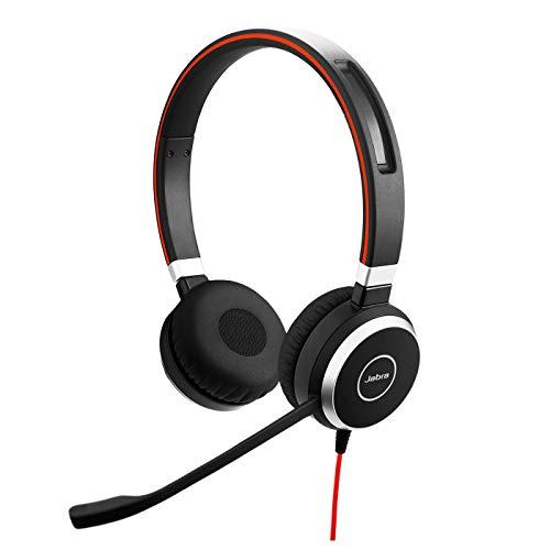 Jabra Evolve 40 MS Stereo Headset – Microsoft zertifizierte Kopfhörer für VoIP Softphone mit passivem...