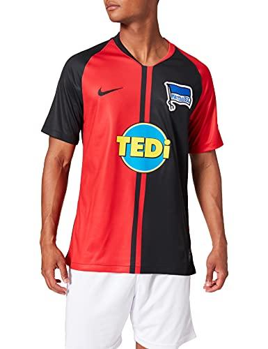 Nike Herren HBSC M NK BRT STAD JSY SS AW Football T-Shirt, University red/Black Full Sponsor, M