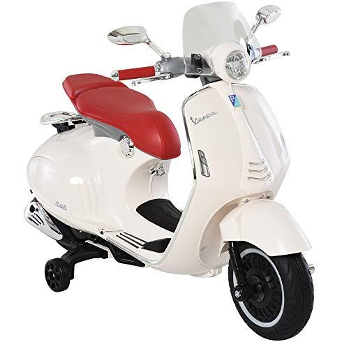 HOMCOM Elektrofahrzeug, Kinderfahrzeug, Kindermotorrad, Elektro-Motorrad mit MP3-Musik Beleuchtung, 3-6 Jahre,...
